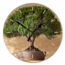 """Настенные часы из стекла Династия 01-003 """"Дерево счастья"""""""