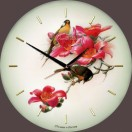 """Настенные часы из стекла Династия 01-012 """"Птички"""""""
