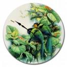 """Настенные часы из стекла Династия 01-013 """"Птички зеленые"""""""