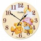 """Настенные часы из стекла Династия 01-024 """"Медвежата"""""""