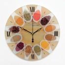 """Настенные часы из стекла Династия 01-075 """"Ассорти"""""""