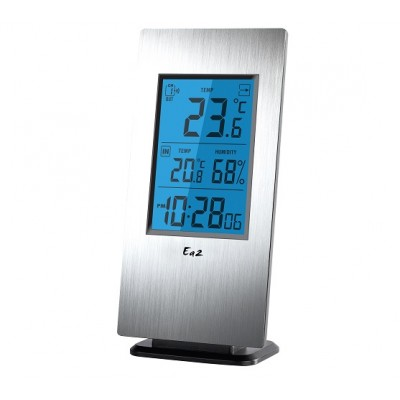 Ea2 AL802 Термогигрометр с часами из коллекции «Aluminum»