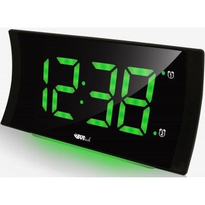 BVItech BV-432G Электронные настольные часы с будильником, с подсветкой