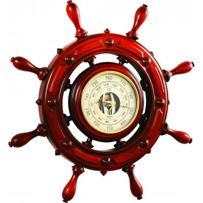ШБСТ-С12/1 Штурвал сувенирный, барометр (8 ручек)