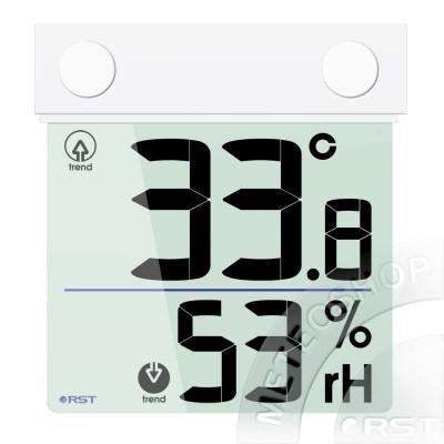 Цифровой оконный термогигрометр на липучке