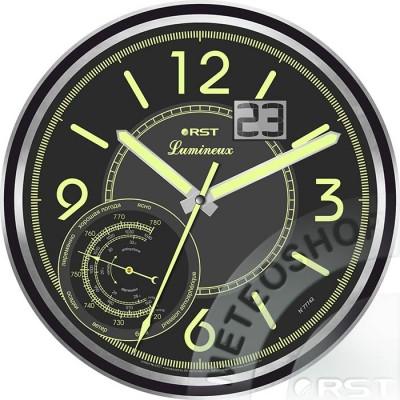 Светящиеся настенные часы RST 77742