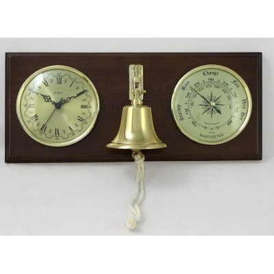 БМ 92545 барометр с часами и рындой