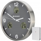 Bresser MyTime io NX Thermo/Hygro,Часы настенные 30 см, серые (76438)