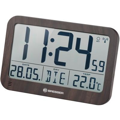 Bresser MyTime MC LCD Часы настенные в корпусе под дерево