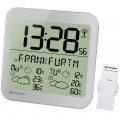 Bresser MyTime Meteotime LCD,Часы настенные серебристые (74650)