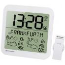 Bresser MyTime Meteotime LCD,Часы настенные белые (74649)