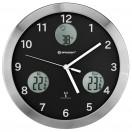 Bresser MyTime io, Метеостанция настенные часы  30 см, черная