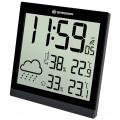 Bresser TemeoTrend JC LCD,Метеостанция (настенные часы) черная
