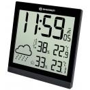Bresser TemeoTrend JC LCD,Метеостанция (настенные часы) черная (73267)