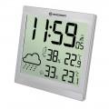 Bresser TemeoTrend JC LCD,Метеостанция (настенные часы)  серебристая