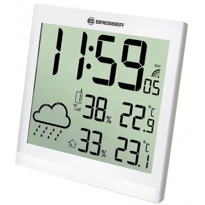 Bresser TemeoTrend JC LCD,Метеостанция (настенные часы)  белая