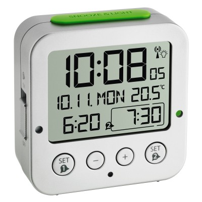 TFA 60.2528.02 Часы будильник с термометром