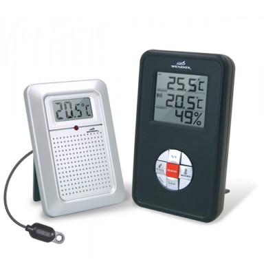 Wendox W4580 Black Цифровой термогигрометр с радиодатчиком