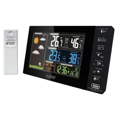 La Crosse WS6827 Домашняя метеостанция с цветным экраном, USB порт