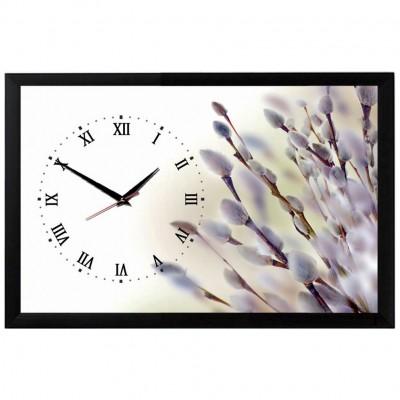 """Настенные часы из песка Династия 03-157 """"Верба"""""""
