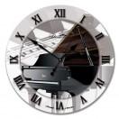 """Настенные часы из стекла Династия 01-026 """"Рояль"""""""