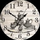 """Настенные часы из дерева Династия 02-004 """"Чаепитие"""""""
