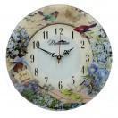 """Настенные часы из стекла Династия 01-052 """"Незабудки-2"""""""