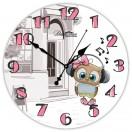 """Настенные часы из стекла Династия 01-072 """"Совенок"""""""