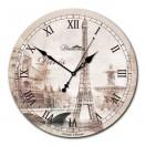 """Настенные часы из стекла Династия 01-010 """"Осенний Париж"""""""