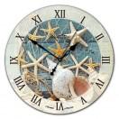"""Настенные часы из стекла Династия 01-014 """"Красное море"""""""