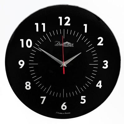 """Настенные часы из стекла Династия 01-077 """"Черные"""""""