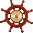ШБСТ-С7 Штурвал сувенирный, барометр (8 ручек)