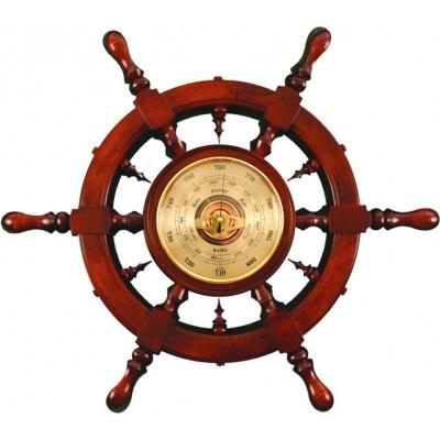 ШБСТ-С11 Штурвал сувенирный, барометр (6 ручек)