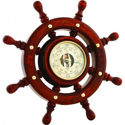 Штурвал сувенирный, барометр (8 ручек)  ШБСТ-С6